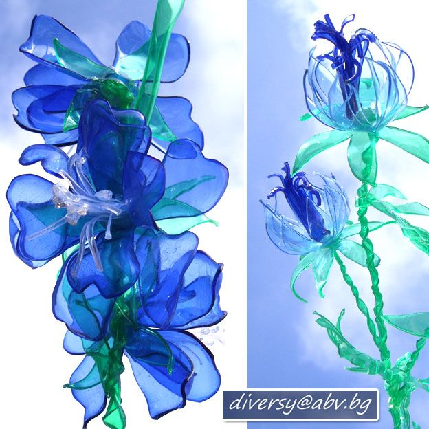 flowers from plastic bottles - video tutorial