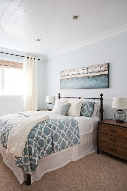 This Blue With Images Beach Style Bedroom Beach Themed