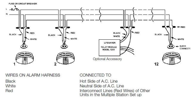smoke detector wiring diagram  country coach wiring