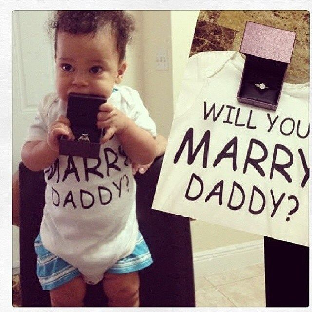 This Is By Far The Cutest Proposal! Baby-mamas Deserve The