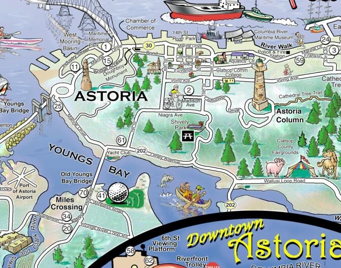 For some reason, Astoria, Oregon has always intrigued me. | Maps