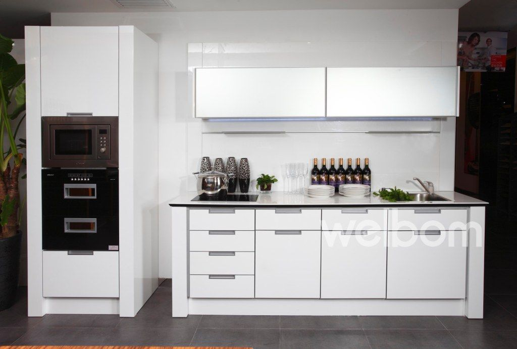 To Remind Me That I Want To Put Double Ovens Or The Fridge Where The P Laminate Kitchen Cabinets Painting Laminate Kitchen Cabinets Kitchen Cabinet Inspiration