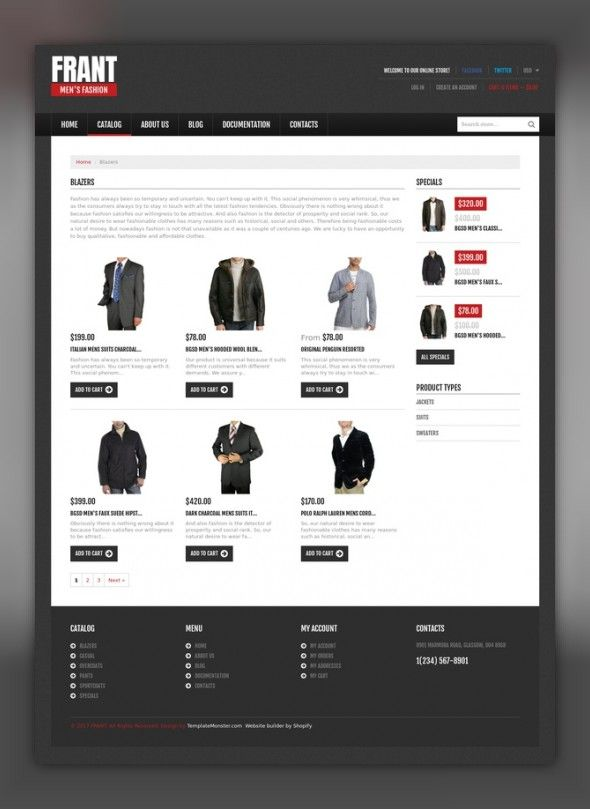 Apparel Responsive Shopify Theme E-commerce Templates, Shopify Themes, Fashion & Beauty, Fashion Templates, Apparel Templates