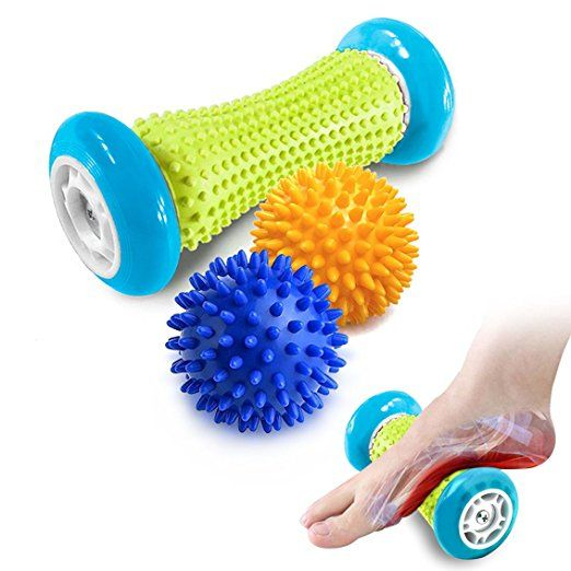 47ccd92936 Pasnity Foot Massage Roller Spiky Ball Foot Pain Relief Massager Relieve Plantar  Fasciitis and Heel Foot Arch Pain and Relax Shoulder Foot Back Leg Hand, ...