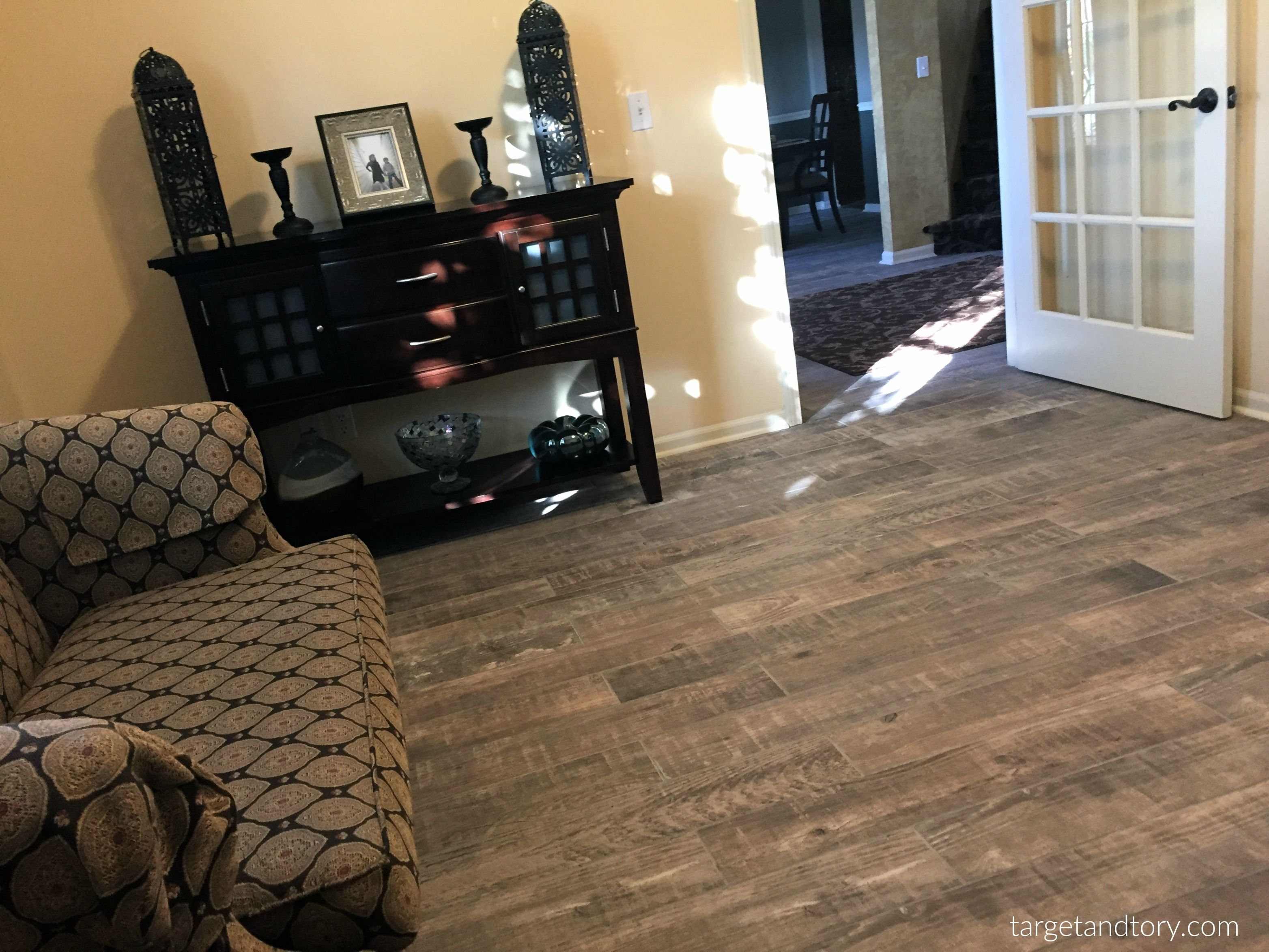 Style Selections Sequoia Ballpark Wood Look Porcelain Floor and Wall