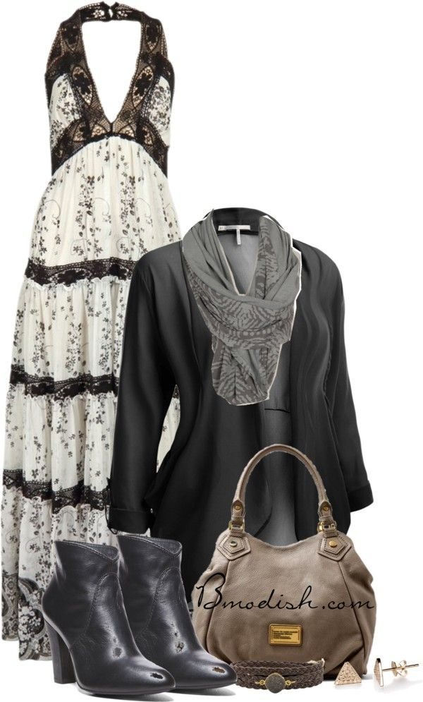 Black maxi dress polyvore