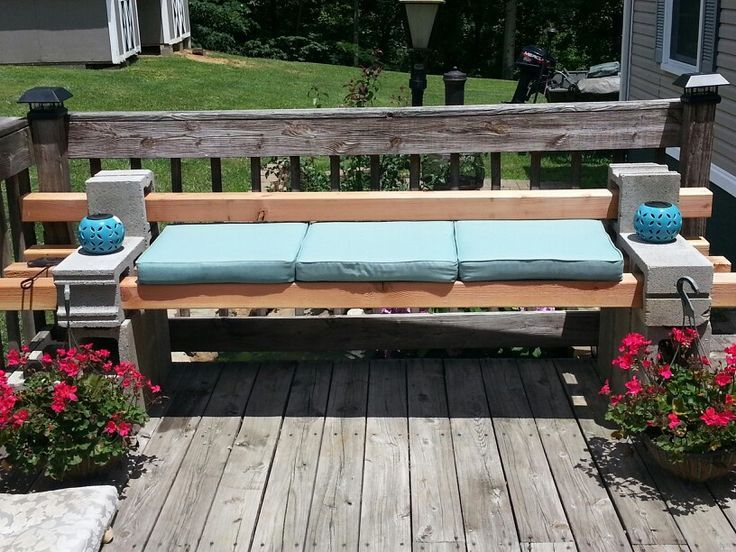 image of cinder block bench pictures