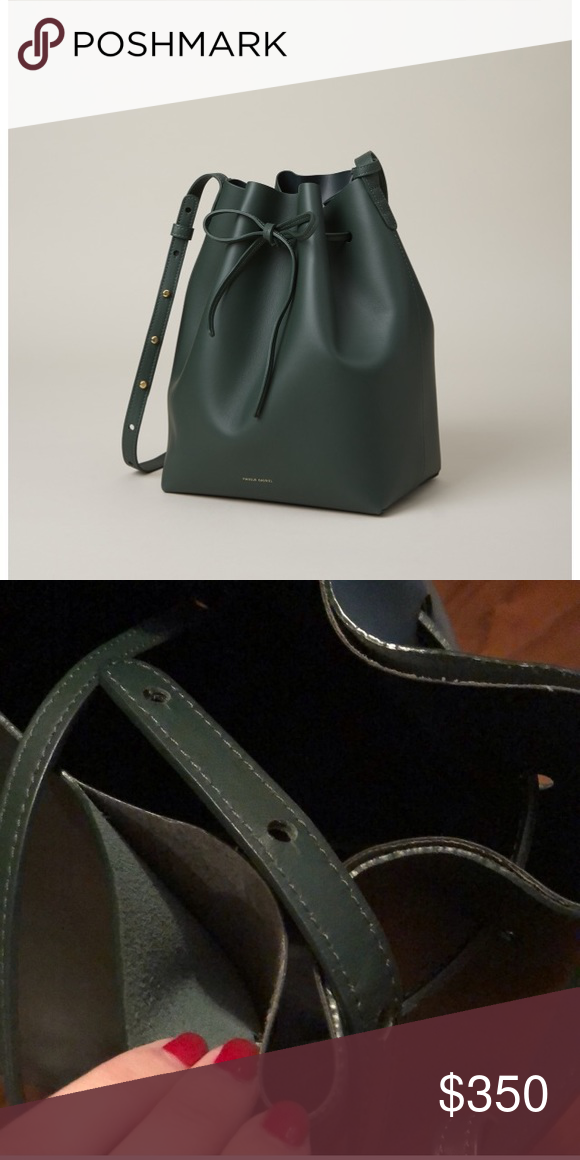 93d0b58be699b Authentic Mansur Gavriel Large Bucket Bag A beautiful staple for your  wardrobe in the prettiest moss