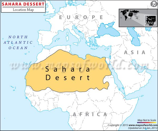 Sahara Desert Travel Information Facts Location Best Time To - Africa desert map