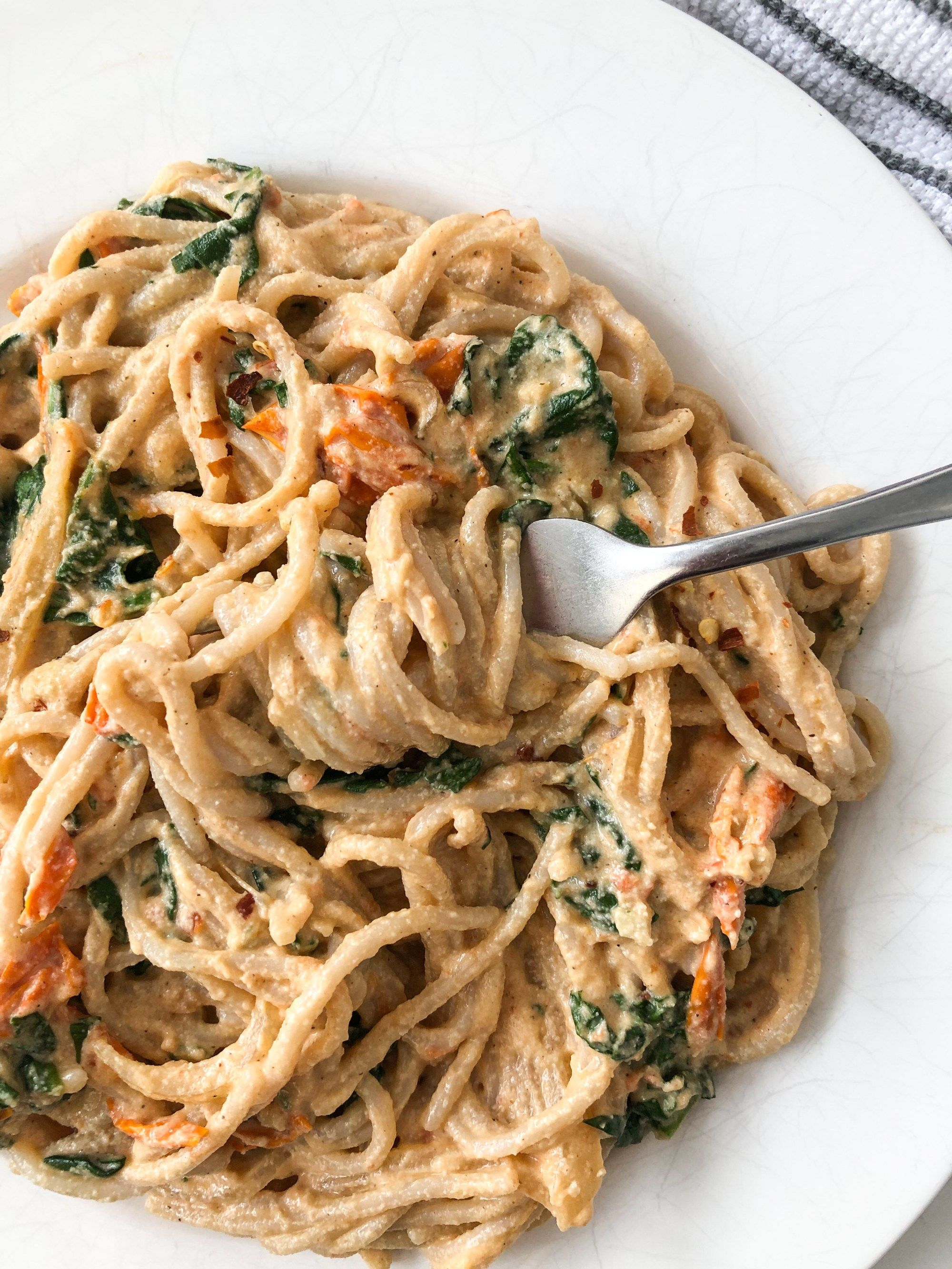 Vegan Creamy Chipotle Pasta - Live Simply Healthy