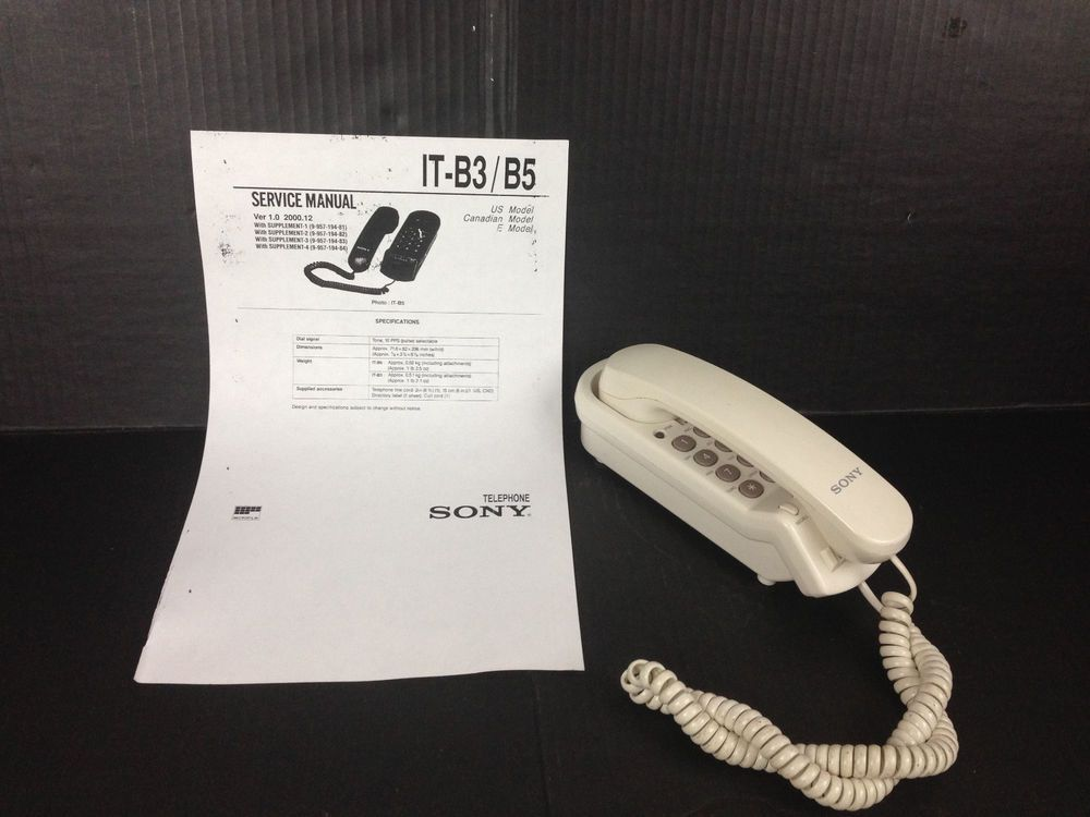 sony it b5 telephone white landline non electric touch tone vtg rh pinterest com Sony Products Sony Operating Manuals