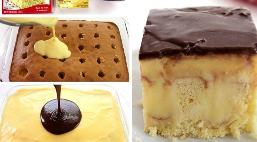 puddingkuchen mit schokoglasur einfache rezepte backen pinterest. Black Bedroom Furniture Sets. Home Design Ideas