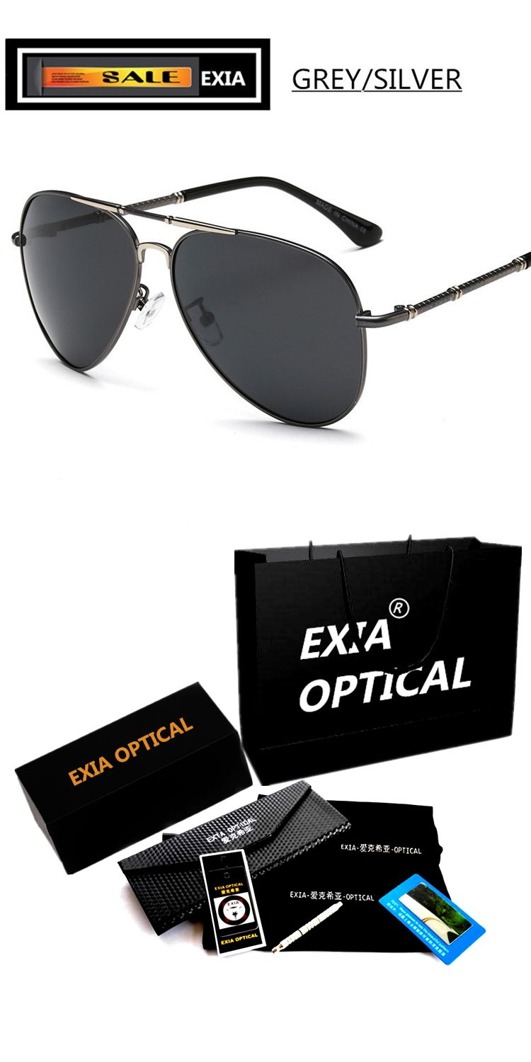 fcf3eac20f Men Sunglasses Pilot Style with Polarization Lenses Alloy Frame EXIA  OPTICAL KD-275 Series