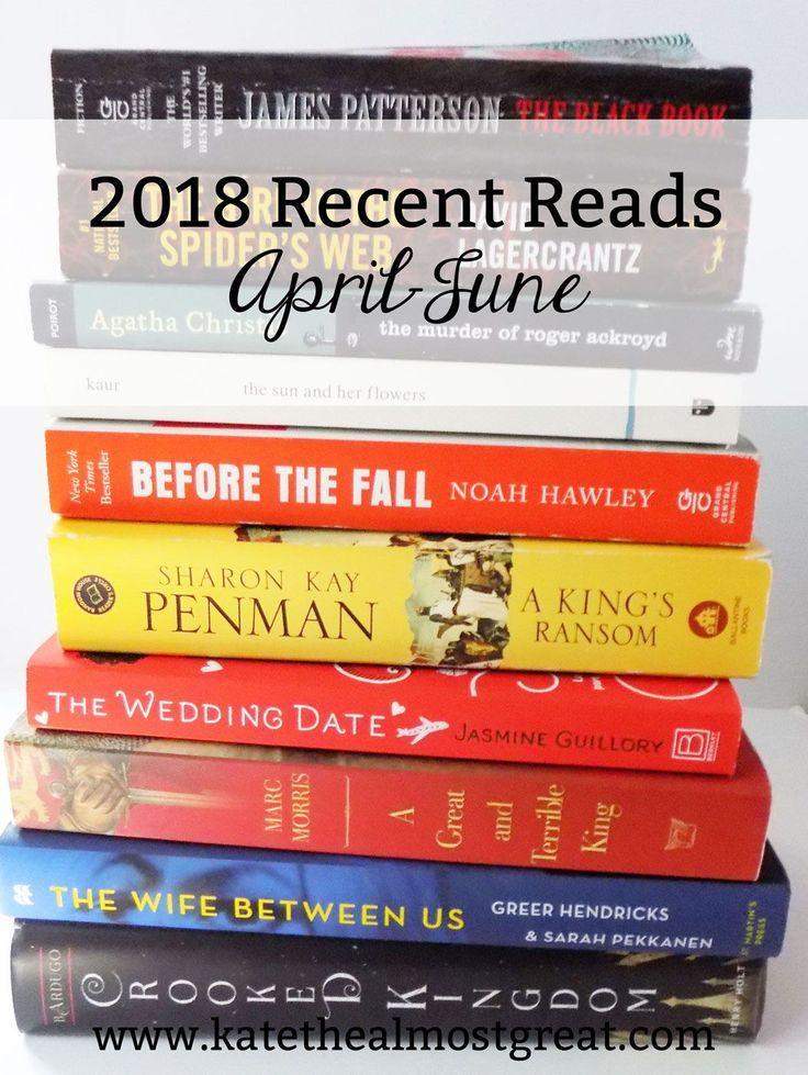 2018 Recent Reads AprilJune Book