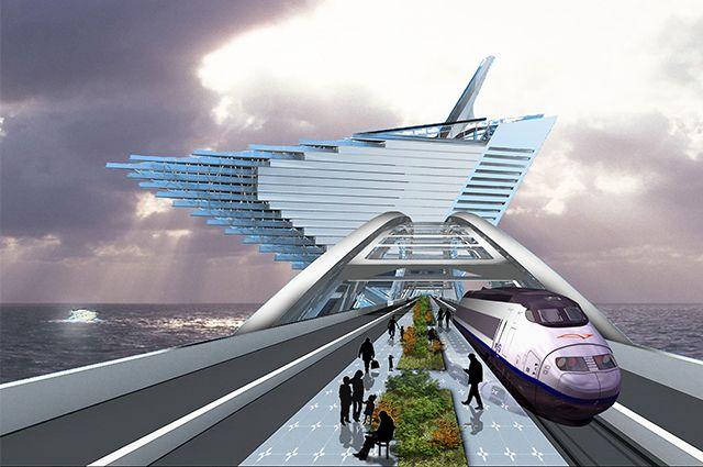 Future Vladivostok. Bridge to Peschany (Sandy) Peninsula, by Elena Kialunziga