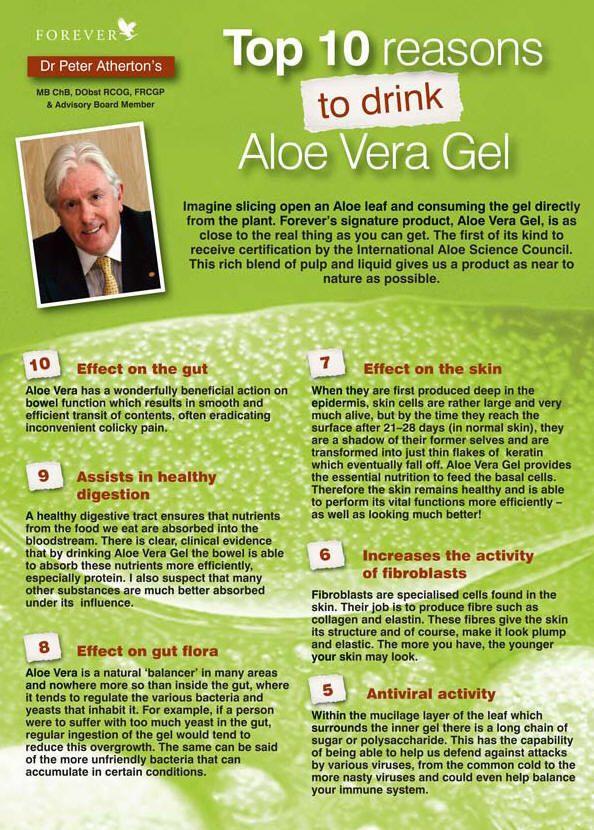 Top 10 Reasons to drink Aloe Vera Gel | Aloe Vera ...