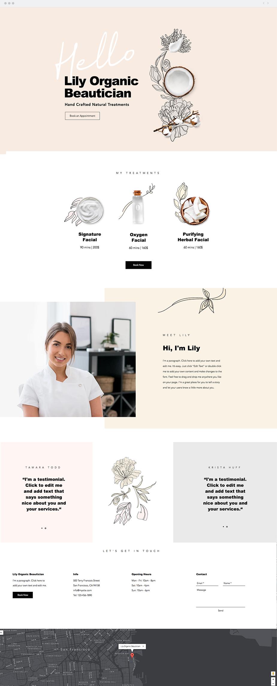 Organic Skin Care Website Template Wix Website Templates Website Design Inspiration Website Design Layout,Teenager Lehenga Blouse Designs Catalogue 2019