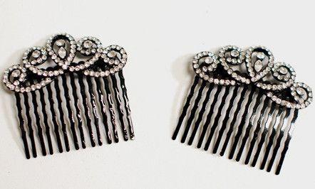 Black Diamond Hair Combs