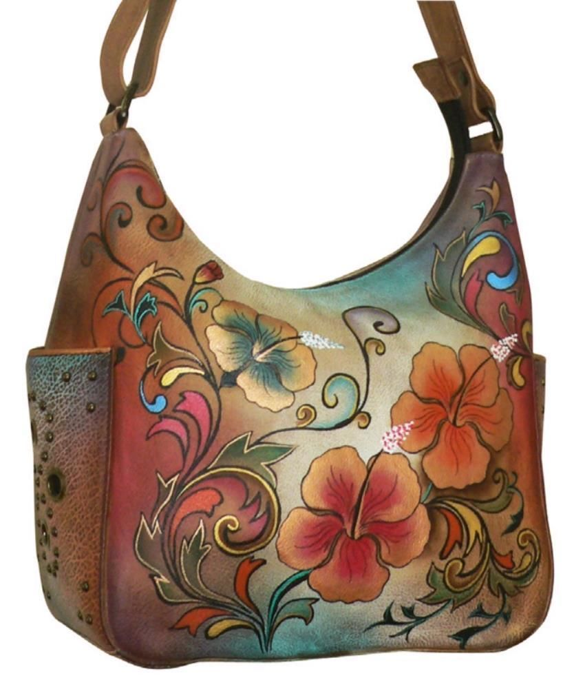 309ee9a8b60 Anuschka 433 Leather Hobo Bag Floral Womens Sz   eBay   It s in the ...