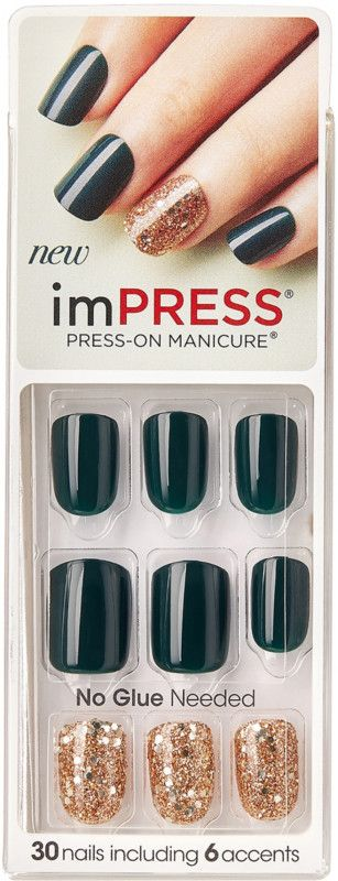 The One Step Gel Manicure Stays On Trend With Impractical Joke Impress Press On Manicure By Kiss French Impress Nails Press On Impress Manicure Impress Nails