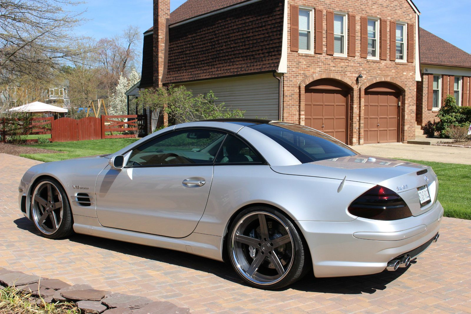 2005 Mercedes Benz R230 Sl65 Amg On 20 D2 Forged Wheels With