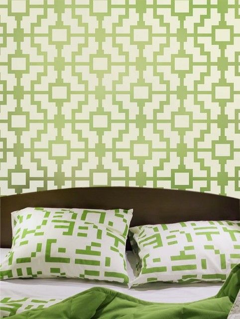 Geometric patterned painted walls. Accent wall. Geometric design ...
