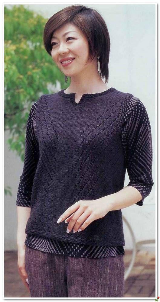 вязание спицами самое интересное в блогах пуловеры и жакеты