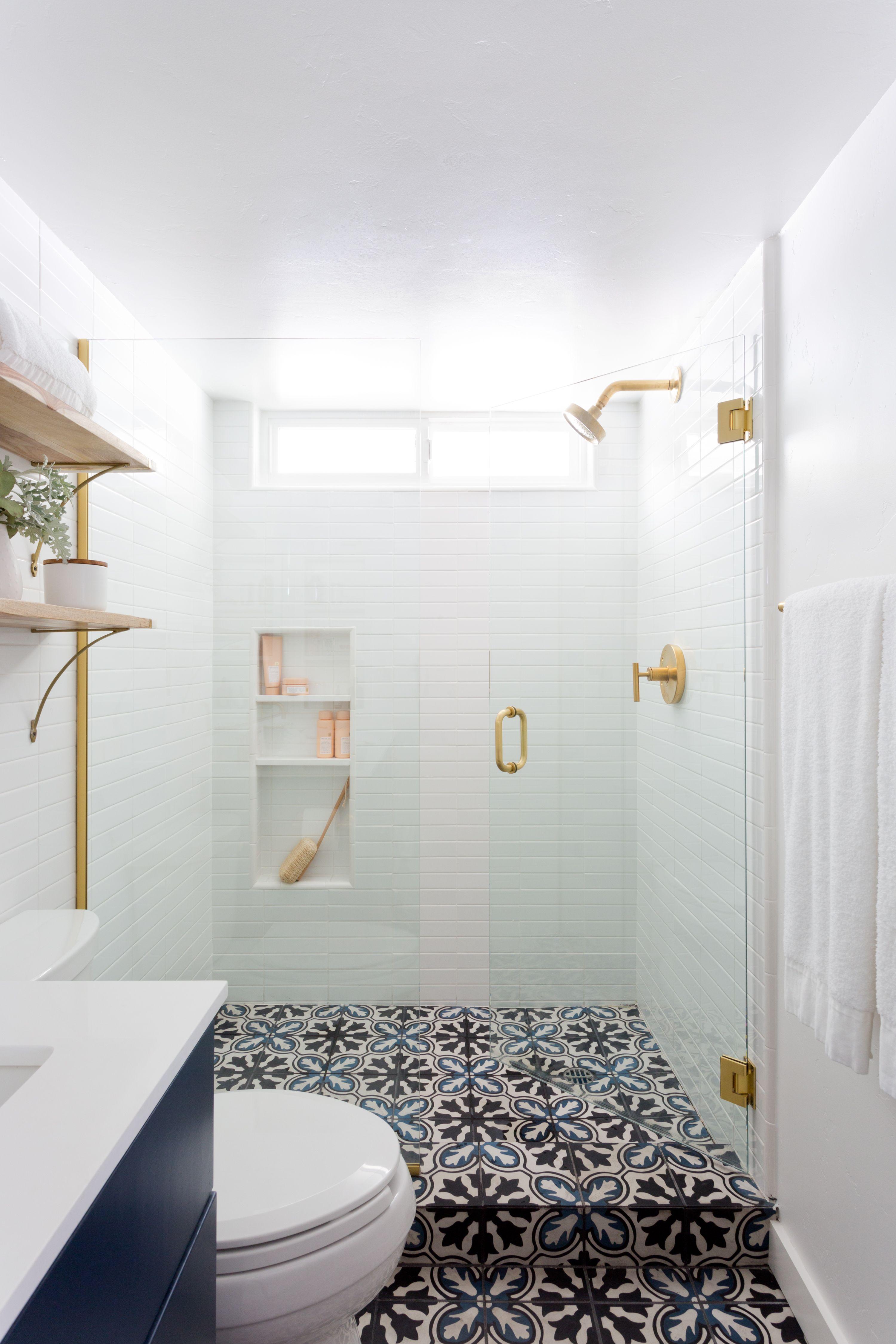 Updated Laguna Beach Home Interior Design Remodel Shower Floor Tile Bathroom Design Bathroom Floor Tiles