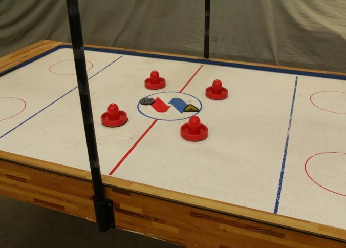 Sportcraft Air Hockey Table Having Score Time Keeper Four Paddles