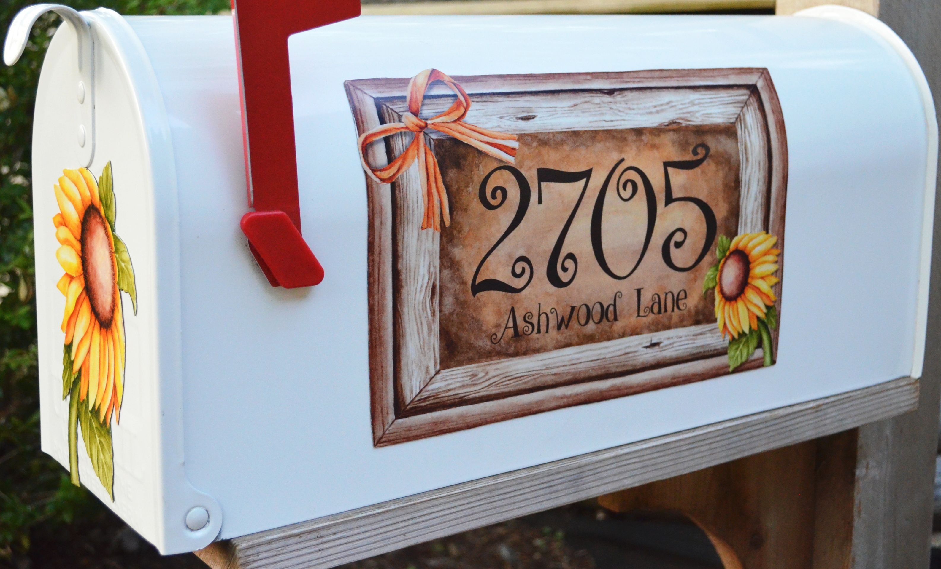 Custom Magnetic Mailbox Cover Personalized With Last Name Mailbox Covers Bonsaipaisajismo Hardware