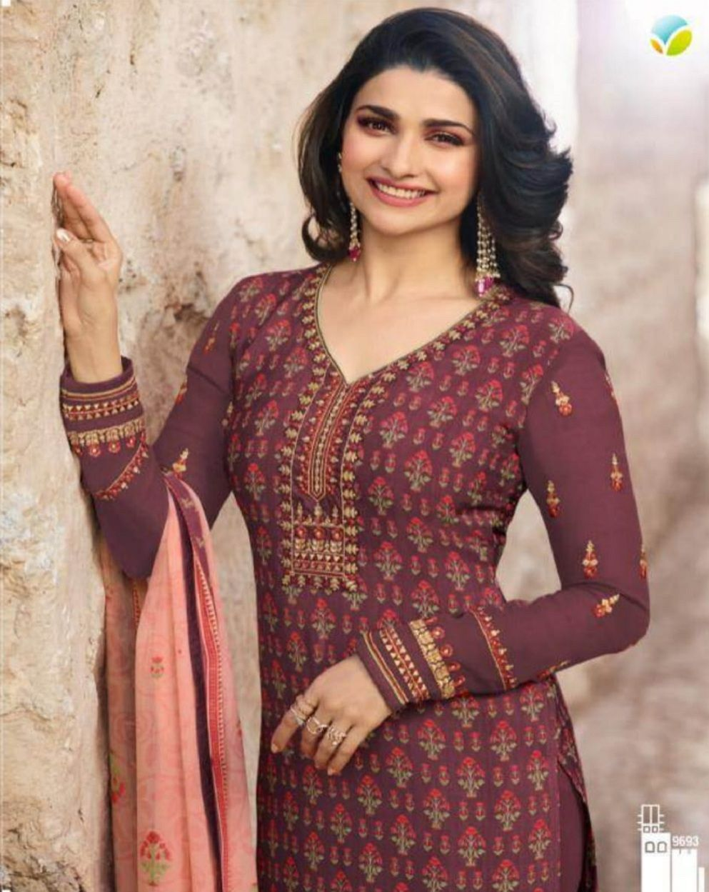 0a4f666e9c Vinay Fashion Silkina Royal Crepe 21 Crepe Printed with Embroidery Suits  9693
