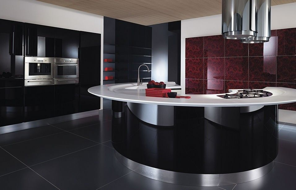 Arredare una cucina con isola - Cucina moderna con isola curva ...