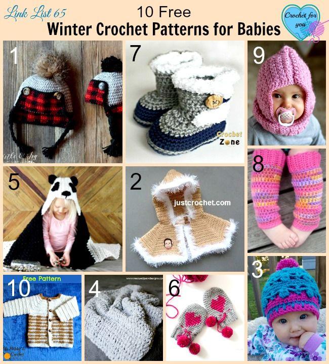 10 Free Winter Crochet Patterns for Babies.   Crochet zapatos ...