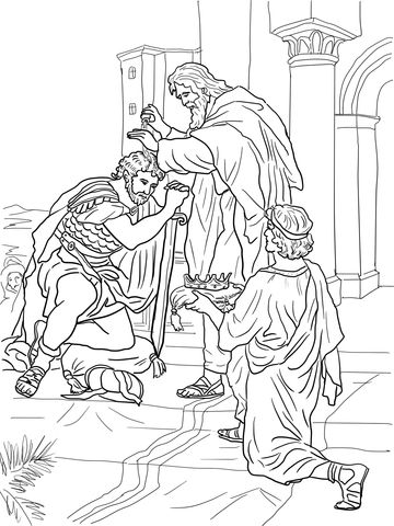 David Is Crowned King Coloring Page From King David Category