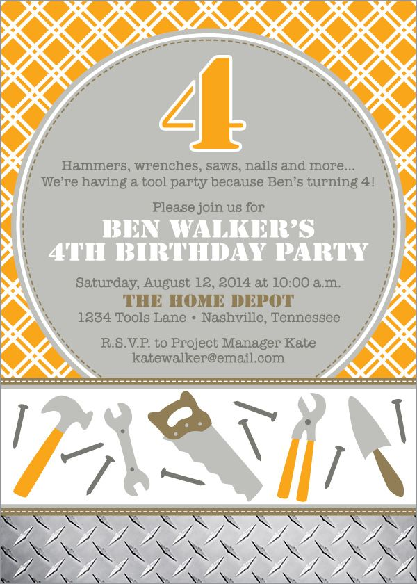 Hd Tool Party Birthday Home Depot Birthday Party Pinterest
