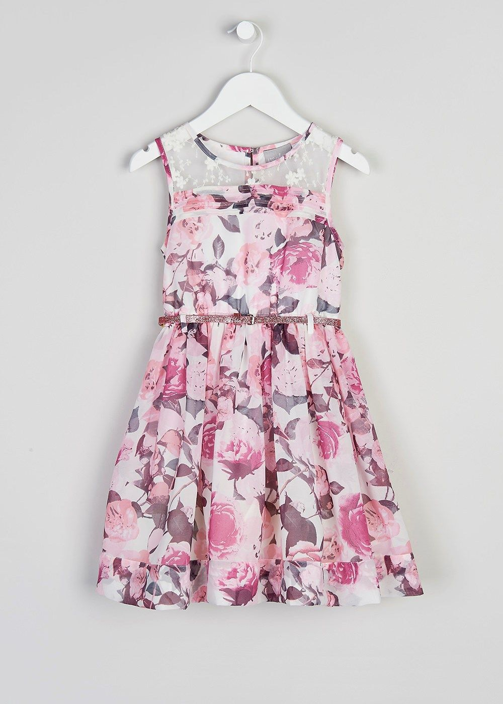 Girls Dress and Belt (3-13yrs) - Matalan | Girlswear | Pinterest ...