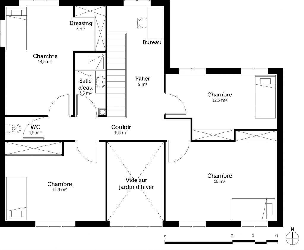 10 Plan Maison 10 Chambres Avec Etage 10d - Plan de la Maison