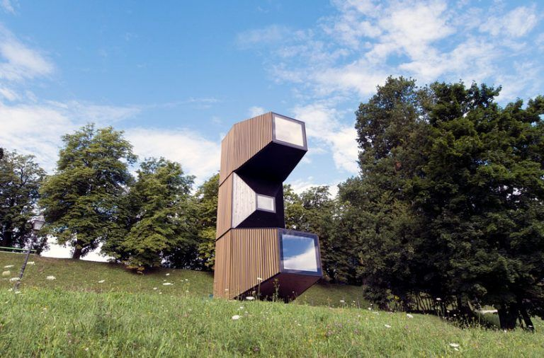 OFIS architects' compact living unit is adaptable to various climate conditions and terrains #compactliving