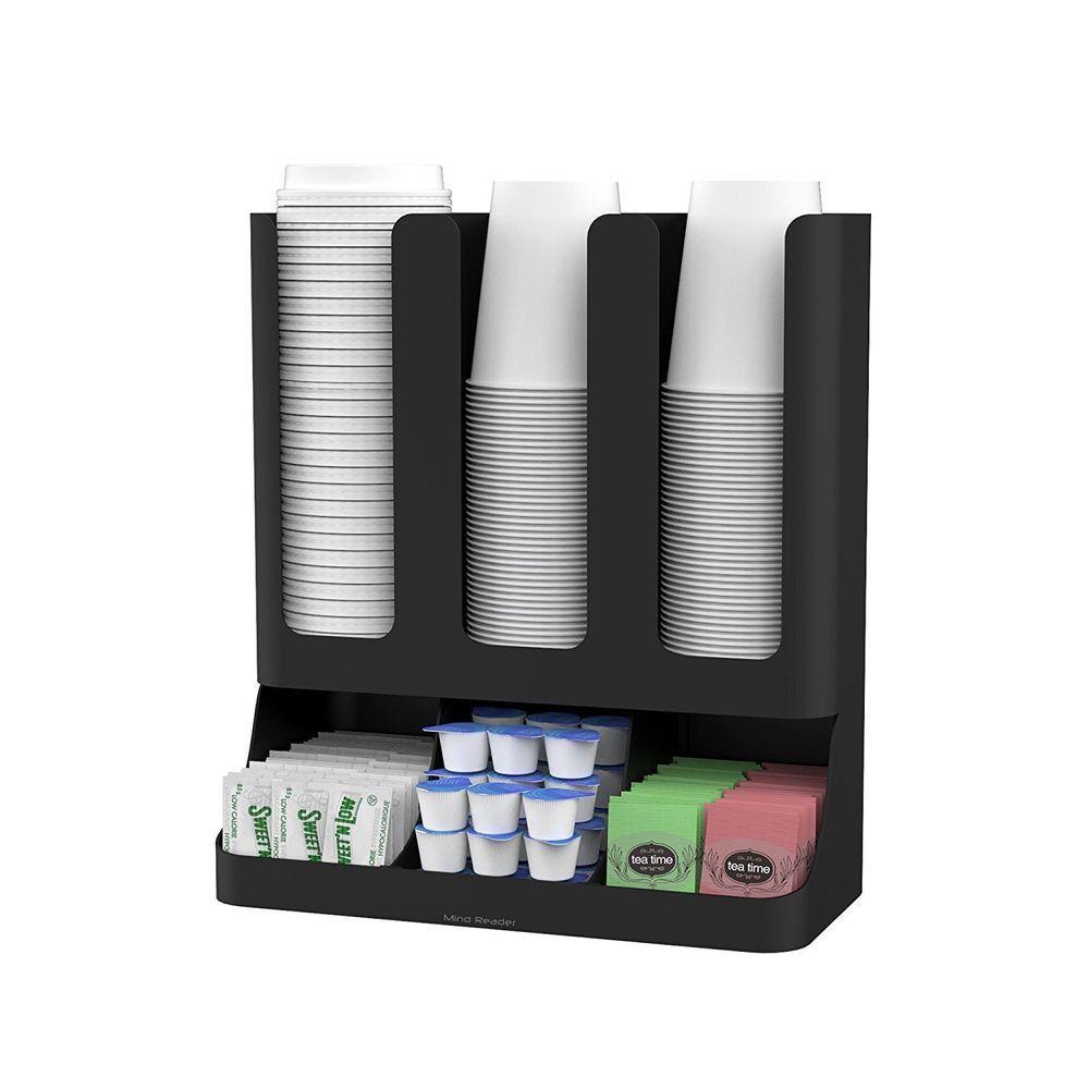 Condiment organizer rack coffee cup tea station breakroom