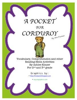A Pocket For Corduroy Reading Skills Activities Vocabulary