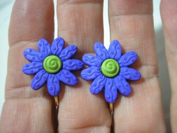 Earring  Clip  Tween  Bright Daisy  Purple  by UUendysCraftyCorner, $5.00