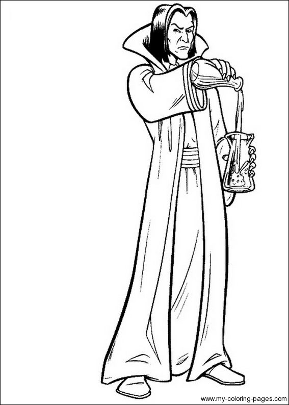 Lets Color Snape Harry Potter Coloring Pages Harry Potter