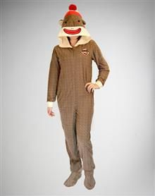 6eedc1ab2494 Sock Monkey Footed Hooded Pajamas! Want these for Christmas Panamas ...
