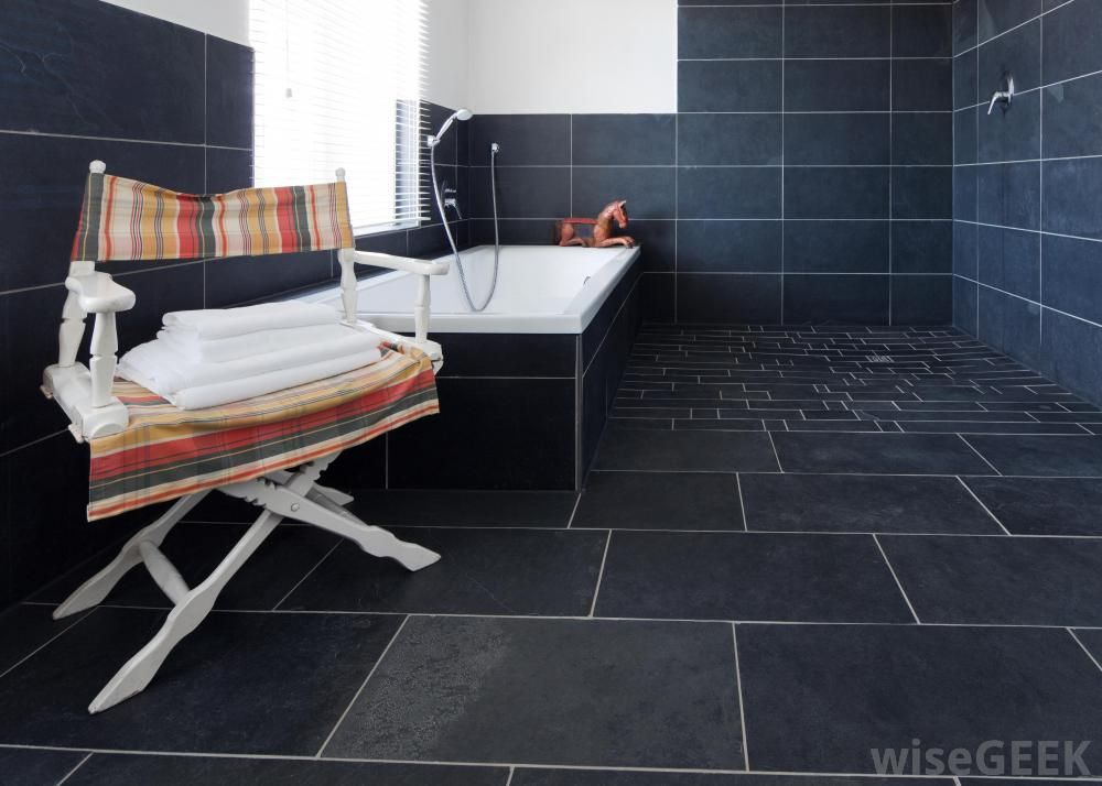 Large Rectangle Tile Shower Use Grey Grout