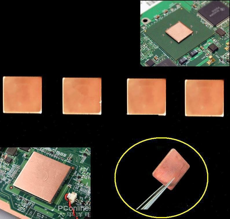 Customized Laptop Computer Cooling Copper Thermal Plate Gpu Video
