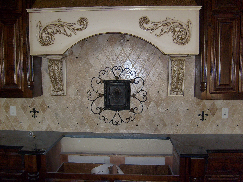 Old World Kitchen. Iron Work and Fleur de Lis custom piece ...