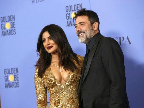 Watch! Priyanka Chopra and Jeffrey Dean Morgan present an award at Golden Globes