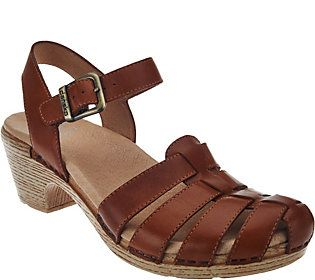 Dansko Leather Closed-toe Sandals with