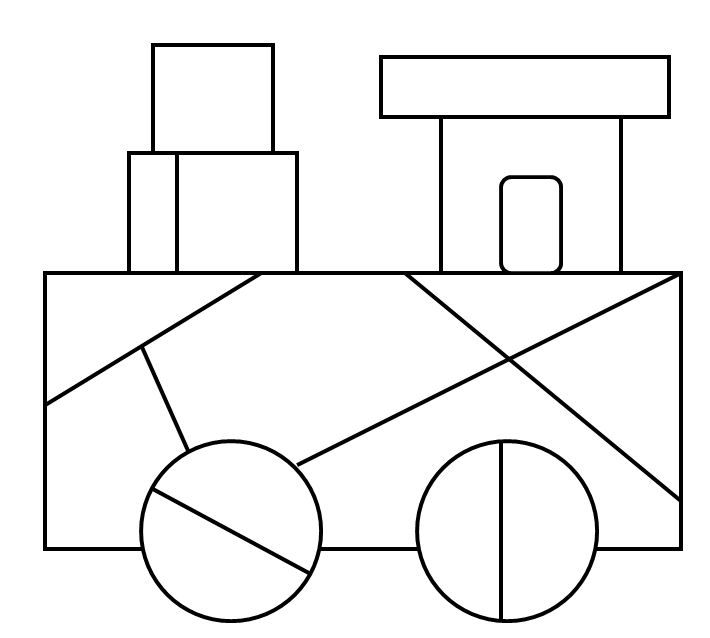 color blank train snip Math game for kids: Coloring Race