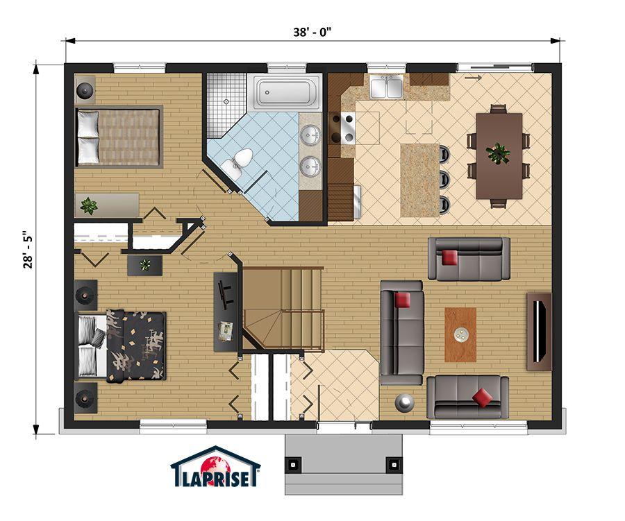 Champêtre LAP0320 Maison Laprise - Maisons pré-usinées plan